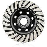 SHDIATOOL 4-1/2 Inch Diamond Turbo Row Grinding Cup Wheel Fits 7/8 Inch Arbor Diamond Grinding Disc for Concrete Masonry