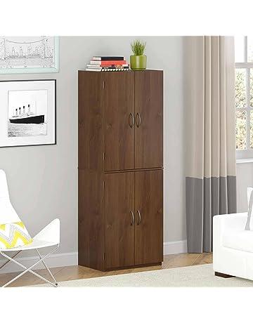 d9ffeb6d7dcd Gracelove Storage Cabinet Kitchen Pantry Organizer Wood Furniture Bathroom  Cupboard Shelf, Alder