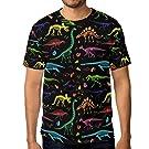 WIHVE Short Sleeve T-Shirt Dinosaur Skeleton Crew Neck T Shirt for Men