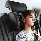 JZCreater Car Seat Headrest Pillow, Head Neck Support Pillow, Carbon Fiber Plaid Roadpal Car Headrest Pillow, 180 Degree Adju