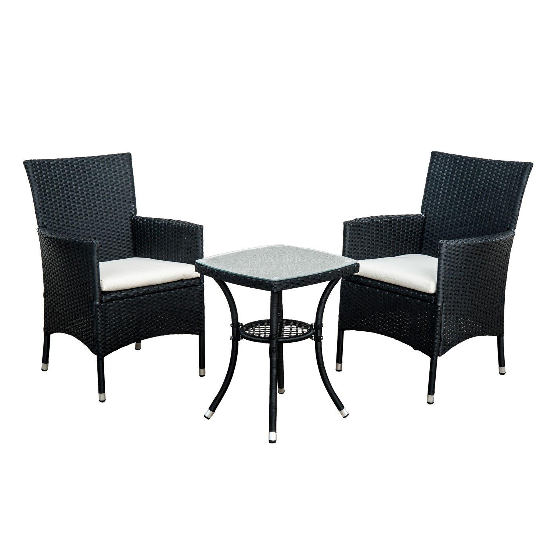 rattan garden chairs and table amazon co uk