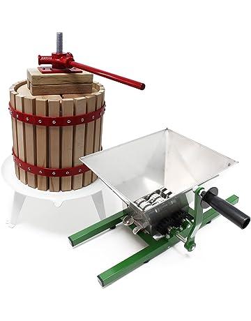 Prensa para frutas mosto bayas 18 litros + triturador molino 7 litros