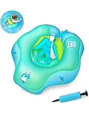 Flotadores para bebés,Waitiee Inflable de Piscina Nadar Anillo para Bebe, Flotador ajustable inflable