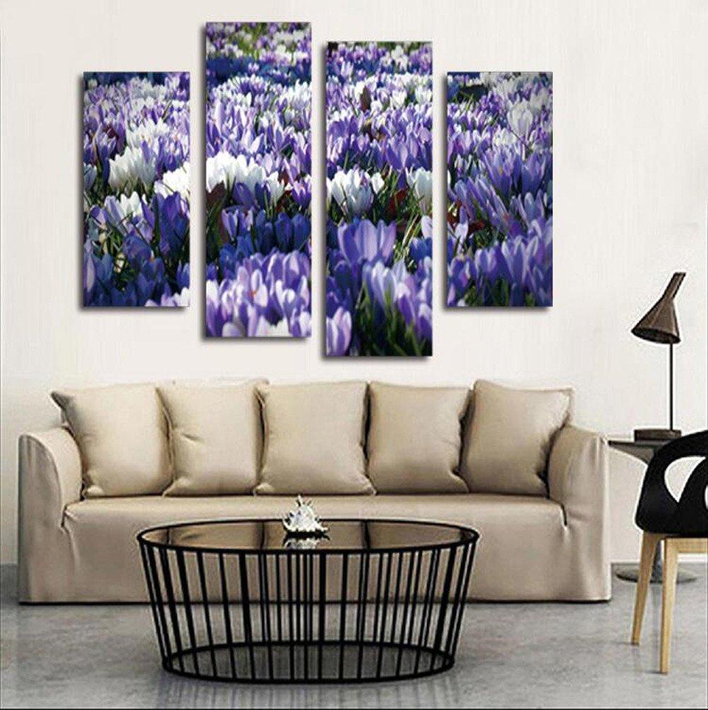 FAYM-Casa Flores salón Decorado con Pinturas sin Marco, Flores FAYM-Casa Pintura Pinturas y Cuatro Kit,30cm60cm(2pcs)+30cm80cm(2pcs) e47fb2
