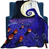 """Nightmare Before Christmas Micro Fleece Bed Blankets Super Soft Cozy Luxury Couch Blanket 50""""X40"""""""