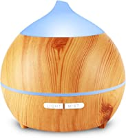 250ml Essential Oil Diffuser with Waterless Off for Bedroom, Home, Office, Yoga,7 LED
