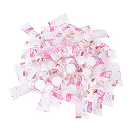 BFlowerYan 100 pcs Skin Face Care DIY Facial Paper Compress Masque Mask, Ship from America Flawless Skin Dual-Action Eye Makeup Remover (oil-Free)  100ml/3.4oz