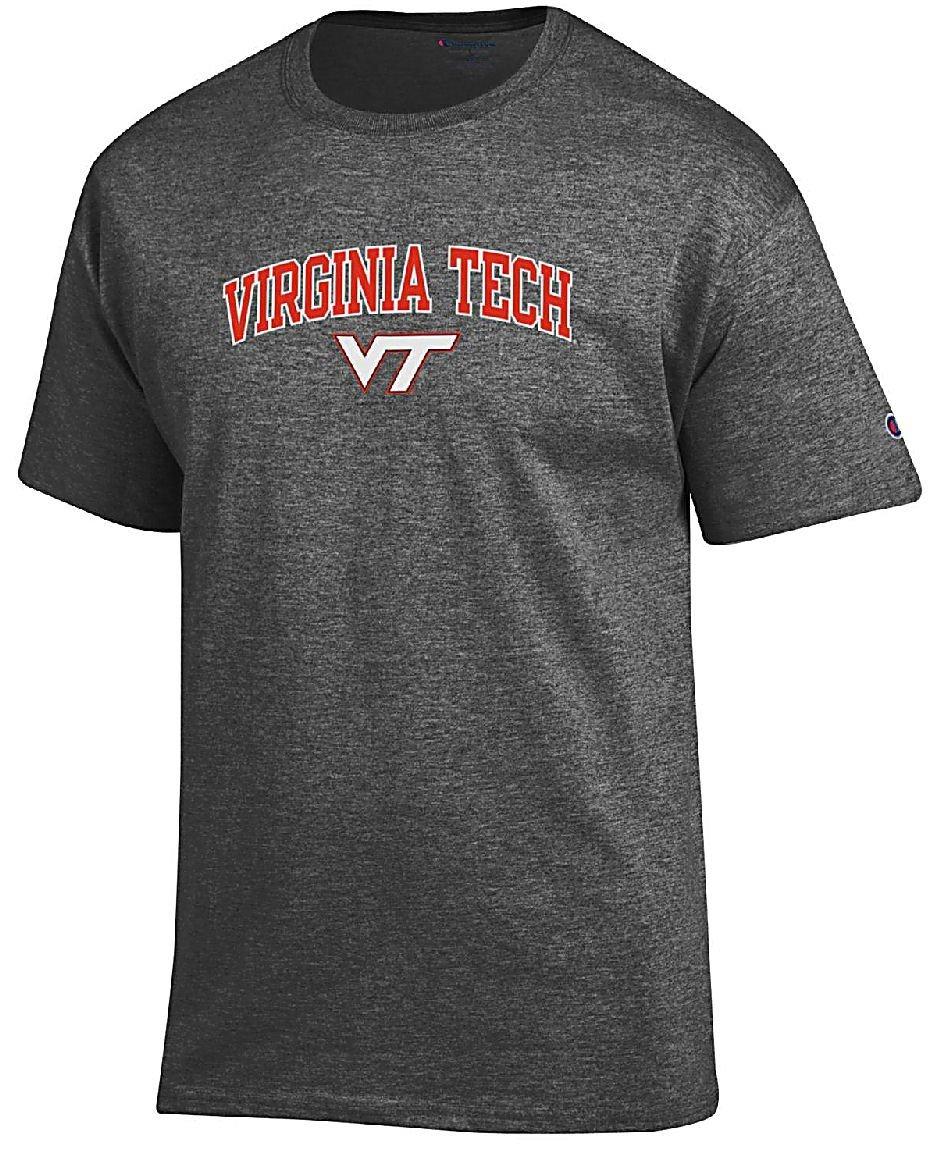 Gear For Sports Virginia Tech Hokies Granite Heather Champion Campus Short Sleeve Shirts