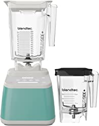 Blendtec Designer 625 Blender with Wildside+ Jar (96 oz) and Mini Wildside+ Jar (46 oz) BUNDLE, Commercial-Grade Power, 4 Pre-Programmed Cycles, 6-Speeds, Sleek and Slim, Sea Foam