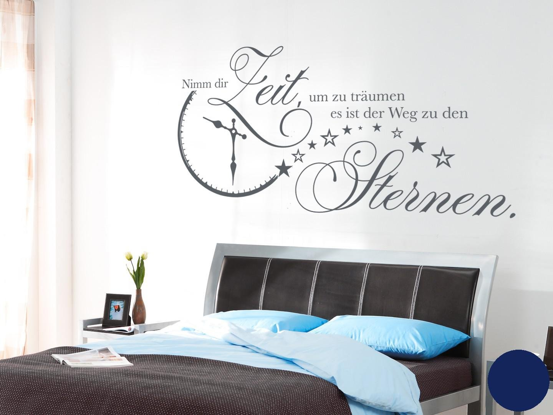 Klebefieber Wandtattoo Nimm Dir Zeit B x H    140cm x 70cm Farbe  Dunkelgrau B072F3QD2B Wandtattoos & Wandbilder 9b0b56