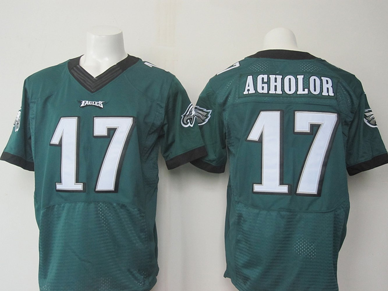 a53185aef14 ... greece philadelphia mens eagles football jersey 17 nelson agholor green  l amazon books 56de9 d81a9