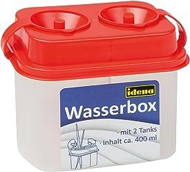 Idena 60038 - Wasserbox mit 2 Tanks, Sicherheitsverschluss, rot
