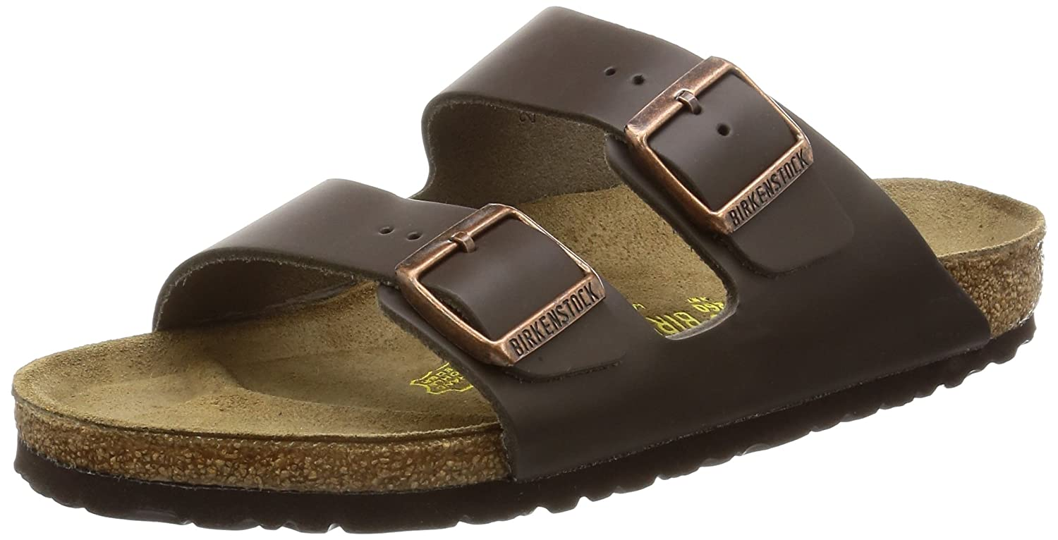 Birkenstock Arizona, Zapatos con Hebilla Unisex Adulto 38 EU (Estrecho)|Marrón (Dark Brown)