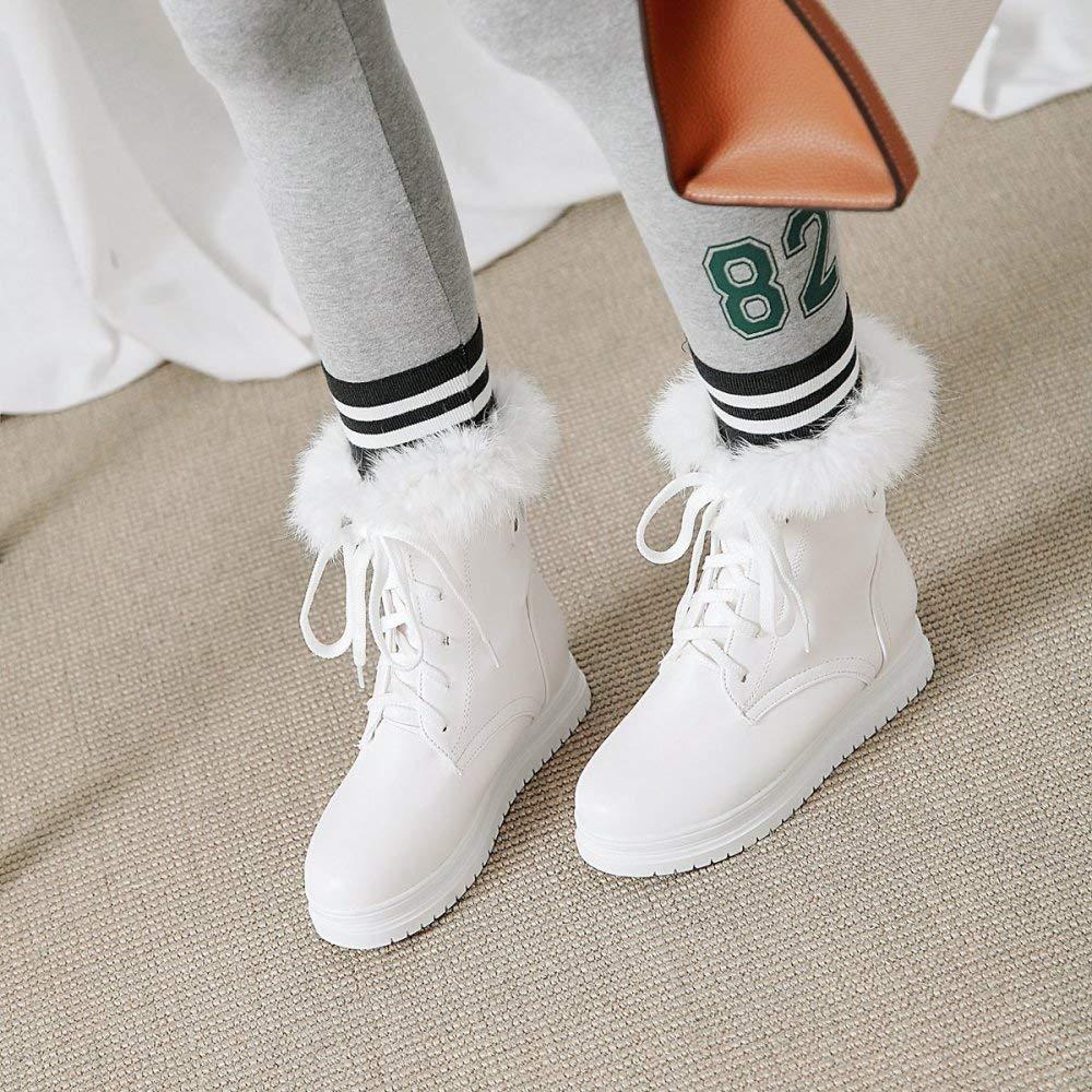 QINGMM Frauen Plattform Baumwolle Stiefel 2018 Schnee Herbst Winter Plüsch Schnee 2018 Stiefel 40-43 Große Größe Weiß 40 EU 30f57e