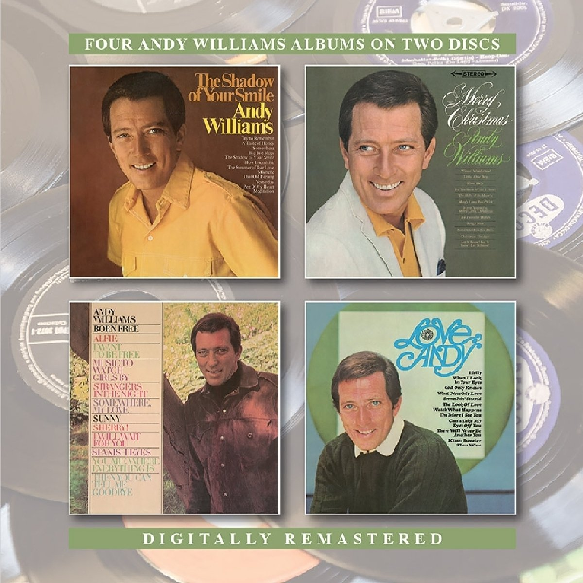 CD : Andy Williams - Shadow Of Your Smile /  Merry Christmas /  Born Free /  Love Andy (United Kingdom - Import)