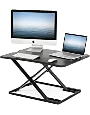 FITUEYES Computer Desk Standing PC Laptop Riser Stand for Working/Eating/Reading/Study | Sit Stand Converter Desk for Home Office SD208001WB