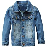 Boys' Basic Denim Jacket Kids Girls Coat Button Down Jeans Jacket Top Outwear for Size 3-8 Years