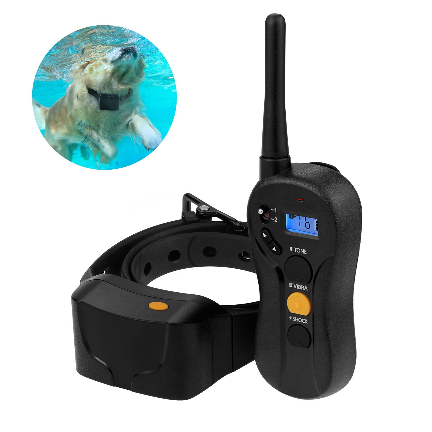 Dog Training Collar with Remote 656 Yard Range Feline Be Mine Removable Shock, Vibration and Beep Modes Large, Medium and Small Dogs Over 15 lbs Waterproof Electric E Collar Rechargeable