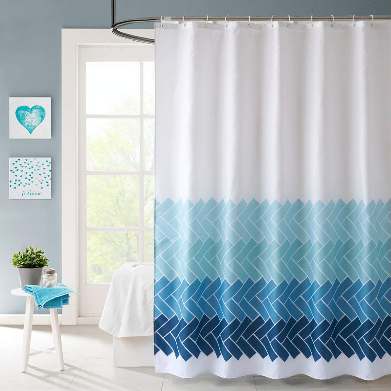 Clear Sfoothome Heavy Duty 100/% EVA Shower Curtain Liner,Waterproof Mildew-Free Shower Curtain for Bathroom Eco Friendly with Bottom Magnets and Metal Grommets,36inchx72inch