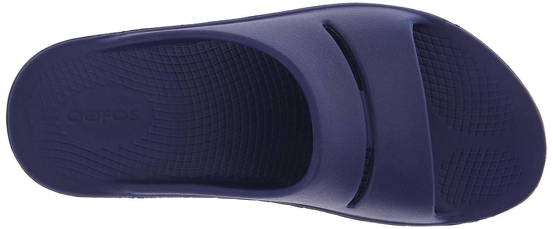 OOFOS Unisex Ooahh Slide Sandal B00BRC4YU2 6 B(M) US Women / 4 D(M) US Men|Navy