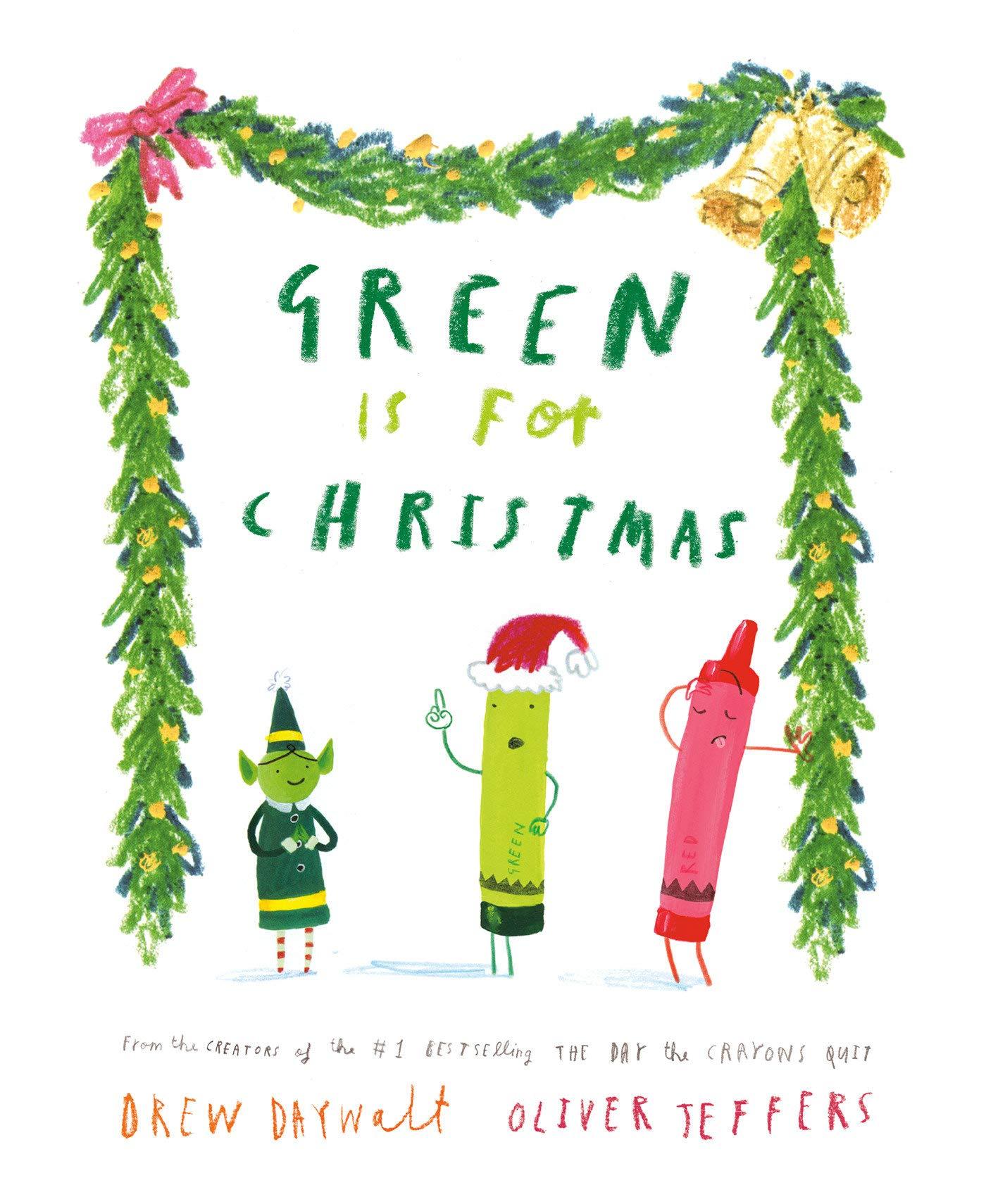 Jeffers Christmas 2021 Green Is For Christmas Daywalt Drew Jeffers Oliver 9780593353387 Amazon Com Books