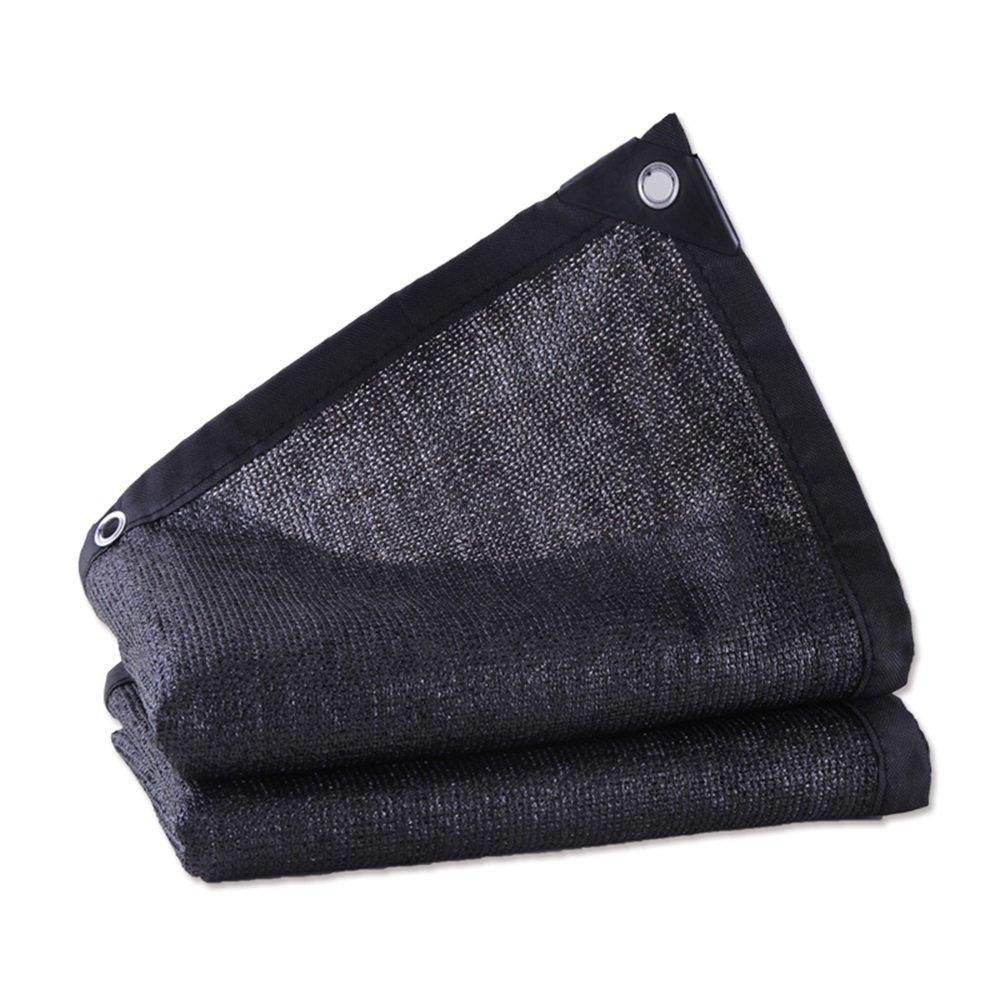 Shade net Ombra Vela Ombrellone 95% Outdoor 8 Pin Giardino Patio Protezione Solare 80% (colore   nero, Dimensioni   2x7m)