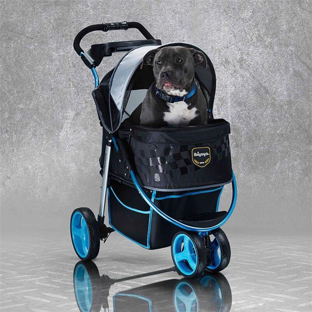 Lozse Pet Passeggino Passeggino Passeggino Viaggiare cane gatto carrello pieghevole 09a379