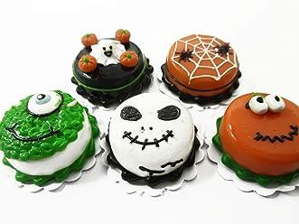 Dollhouse Miniatures Halloween Cake 2 cm Witch Seasonal Handmade Holiday 14000