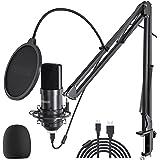 USB Microphone Streaming Podcast PC Microphone 2021 Mics, Peradix 192kHz/24Bit Professional Studio Cardioid Condenser Microph