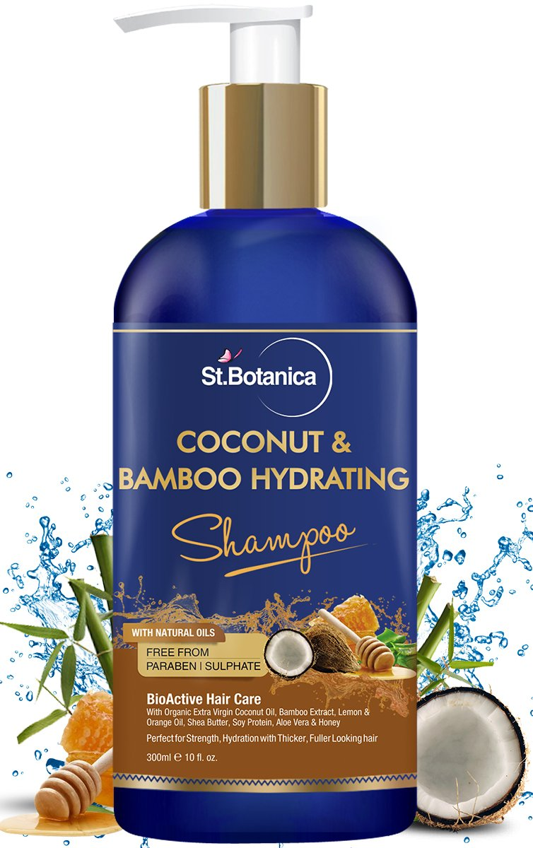 91dd09863d8 StBotanica Coconut Oil   Bamboo Hair Strengthening Shampoo - 300ml - No  Sulphate