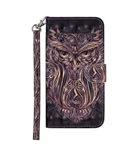 Maoerdo Galaxy S8 Plus Case,3D Colorful Painting Design [Stand Feature] Premium PU Leather Wallet [Card/Cash Slots] Flip Protective Case Cover for Samsung Galaxy S8 Plus[Owl]