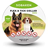 SOBAKEN Flea and Tick Prevention for Dogs, Natural and Hypoallergenic Flea and Tick Collar for Dogs, One Size Fits All, 25 in