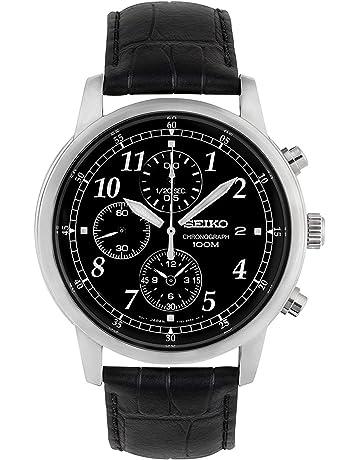88e2288c85f6 Seiko Reloj Cronógrafo de Cuarzo para Hombre con Correa de Piel – SNDC33P1