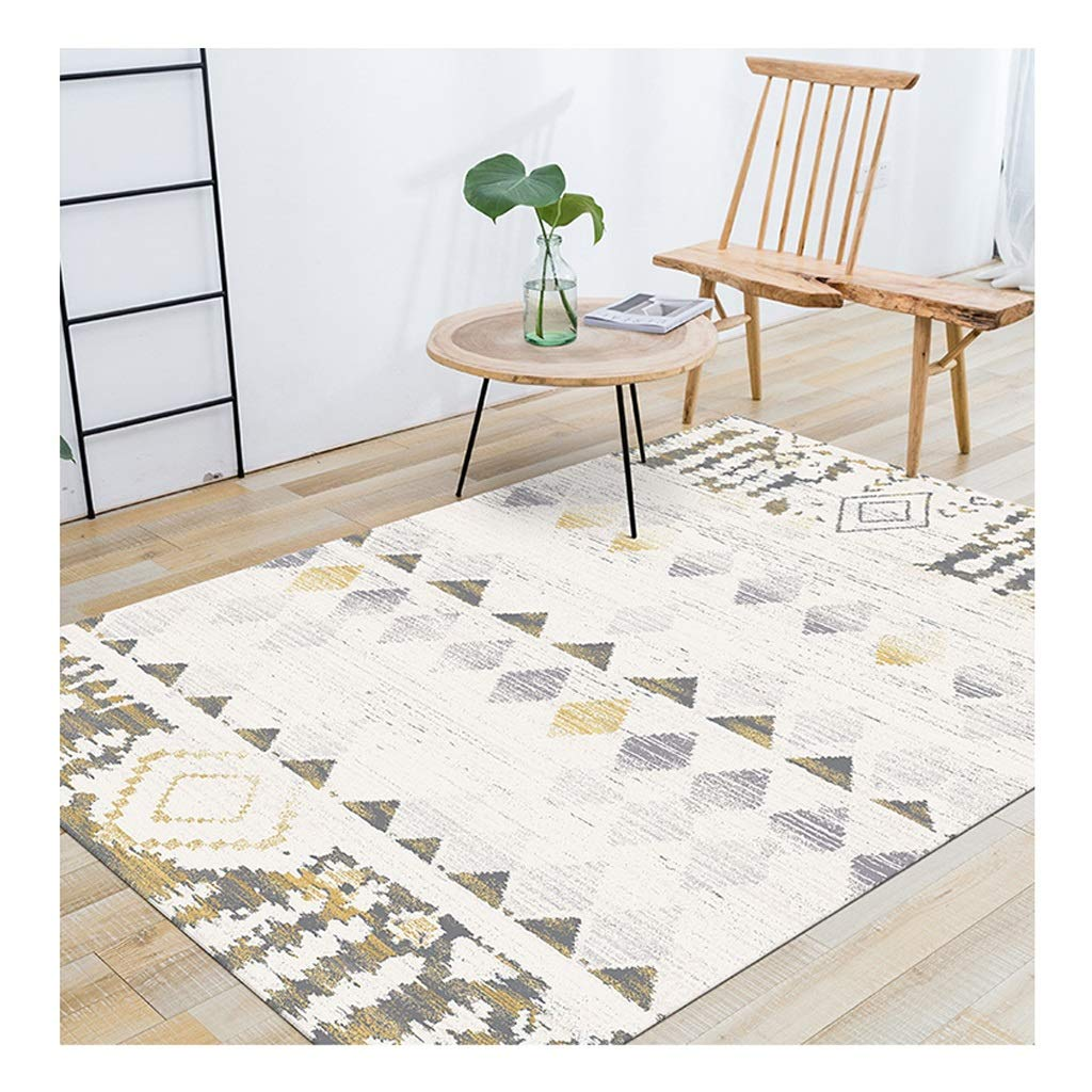 B 140 x 200 cm B 140 x 200 cm Simple Retro Non-slip Area Rugs Soft Warm Moisture Proof Flame Retardant Carpet for Living Room Bedroom 10mm (color   B, Size   140 x 200 cm)