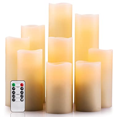 Trickortreat ZW10001 FBA_ZW10012 Flameless Candles, Ivory 4  5  6  7  8  9