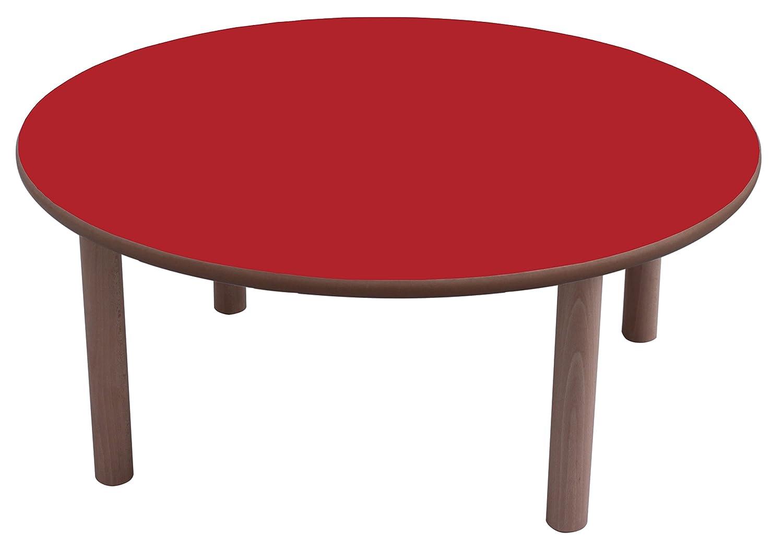 Mobeduc Mesa Redonda de los niños, Madera, Color Rojo, 120 x 46 cm