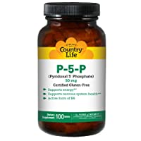 Country Life P-5-P Pyridoxal 5 Phosphate 50mg - Active Form of Vitamin B6 Supports...