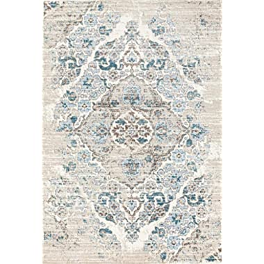 4620 Distressed Cream 3'11x5'3 Area Rug Carpet Large New