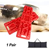 Off-Road Traction Boards with Jack Lift Base - 2Pcs Recovery Traction Mats, Traction Tracks for Trucks/Snow/Mud/Sand, Tractio