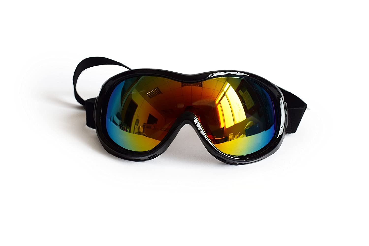Black Sun Glassess Glassess Goggles UV Predection Safety Goggles Snow Skiing Predection Goggles with Removable Starp for Dog Over Than 35Pounds(Black)