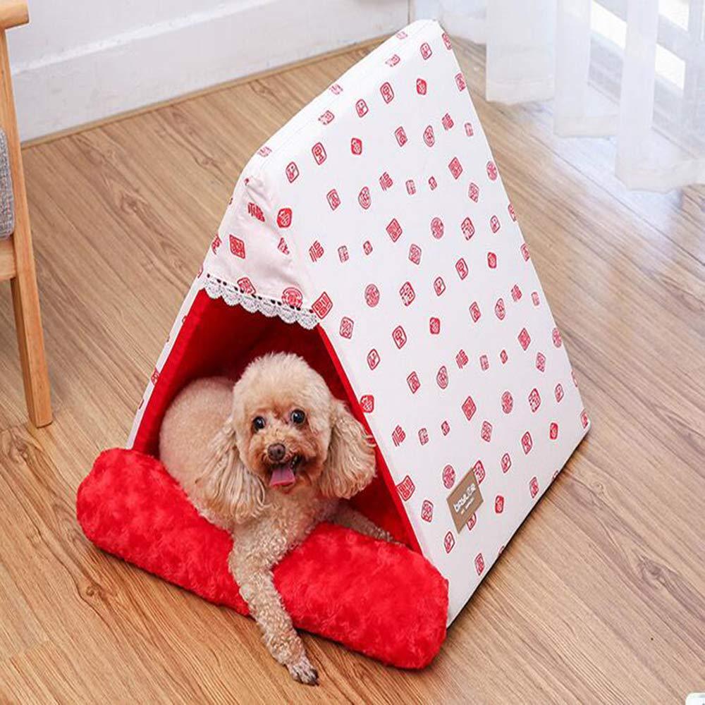 MOIMK MOIMK MOIMK Triangolo Cat Letto, Facilita L'artrite Pet E Displasia Hip Dolore, Terapeutico E di Supporto Dog Bed, Antiscivolo Impermeabile Oxford Panno in Fondo,Red,S 3c047c