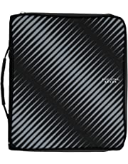 "Five Star 2"" Durable Zipper Binder, Includes 6 Pocket Expanding File, Black (72536)"