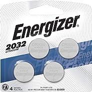 Energizer 2032 Batteries 3V Lithium, (4 Battery Count) Replaces BR2032, DL2032, ECR2032