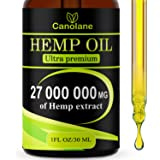 Hemp Oil Drops, 27 000 000 mg, Natural CO2 Extracted, 100% Organic, Pain, Stress, Anxiety Relief, Reduce Insomnia, Vegan Frie