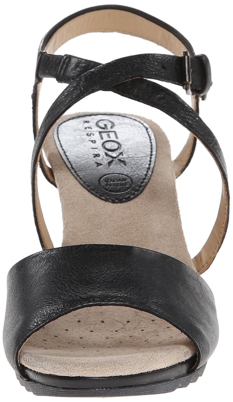 Geox Damen Alias Sandalen mit mit mit Absatz Schwarz c87c00