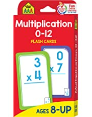 School Zone - Multiplication 0-12 Flash Cards - Ages 8+, 3rd Grade, 4th Grade, Elementary Math, Multiplication Facts, Common Core, and More