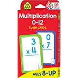 School Zone - Multiplication 0-12 Flash Cards - Ages 8+, 3rd Grade, 4th Grade, Elementary Math, Multiplication Facts, Common