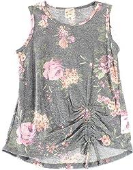 4b164a795f14 Lily Bleu Pink Girl s Floral Printed Tied-Hem Tank Top
