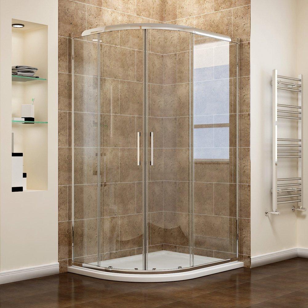 iBathUK 700mm Wet Room Glass Walk In 8mm Shower Screen Panel ...