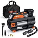 TACKLIFE M2 12V DC Digital Auto Tire Inflator Portable Air Compressor Pump with Digital Pressure Gauge for Cars Bikes and Oth